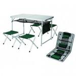 Стол-чемодан + 4 стула ТА 21407 120х60х69 см